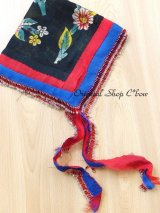 マルマラ地方|遊牧民オヤスカーフ・木版パルチャル|ボンジュックオヤ