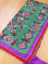 マルマラ地方|遊牧民オヤスカーフ・木版チェンゲルキョイ|プルオヤ・鉄スパンコール