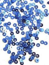 スパンコール|3mm|ブルー(メタル)・10g
