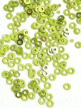 スパンコール|3mm|ライトグリーン(メタル)・10g
