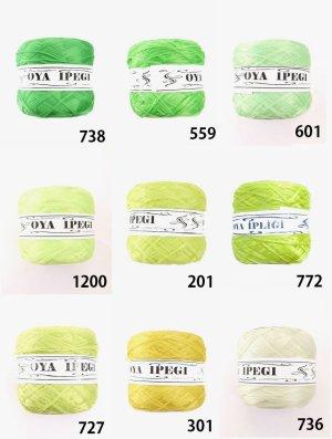 画像1: Diktas|人工シルク糸:グリーン系・2