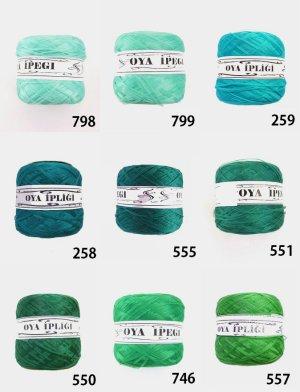 画像2: Diktas|人工シルク糸:グリーン系・1