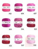Diktas|人工シルク糸:ボルドー・パープル系