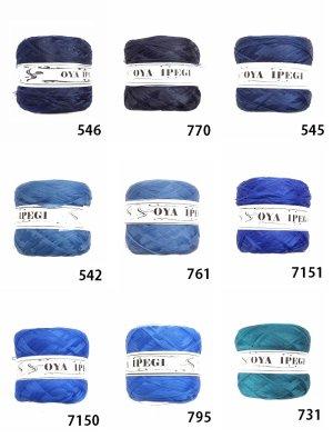 画像1: Diktas 人工シルク糸:ブルー系