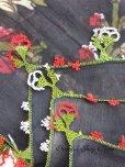 画像4: ブルサ・イズニック 木版アンティークオヤスカーフ・シルク糸イーネオヤ ブラック