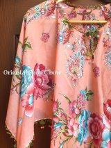 オヤのお洋服☆ポンチョ風ブラウス|さくらんぼ|コーラルピンク