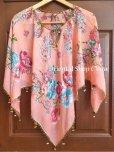 画像2: オヤのお洋服☆ポンチョ風ブラウス|さくらんぼ|コーラルピンク