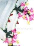 画像5: ブルサ・イズニック 木版アンティークオヤスカーフ・シルク糸 スカイブルー