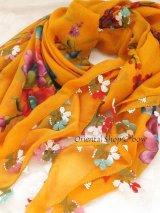 ブルサ:イズニック(ムシュクレ)|オヤスカーフ|大きなイーネオヤ(人工シルク糸)|サクランボの花