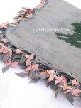 画像3: キュタフヤ・タウシャンル|アンティークイーネオヤスカーフ|シルク糸|グレーピンンク