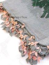 キュタフヤ・タウシャンル|アンティークイーネオヤスカーフ|シルク糸|グレーピンンク