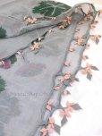 画像6: キュタフヤ・タウシャンル|アンティークイーネオヤスカーフ|シルク糸|グレーピンンク