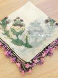 画像2: キュタフヤ・タウシャンル:木版|アンティークイーネオヤスカーフ|シルク糸|時計草