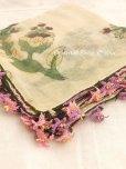 画像3: キュタフヤ・タウシャンル:木版|アンティークイーネオヤスカーフ|シルク糸|時計草