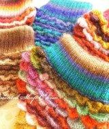コートを着ても着ぶくれしない★セーターのような手編みマフラー