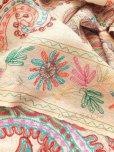 画像8: ★手織り|極上カシミア|シルク糸手刺繍・カシミアストール|ベージュ