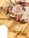 画像3: ★手織り|極上カシミア|シルク糸手刺繍・カシミアストール|ベージュ