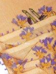 画像4: ブルサ|木版アンティークオヤスカーフ・シルク糸イーネオヤ|ペールオレンジ (4)