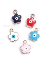 お花&ナザル|両面|ターコイズブルー・ブルー・レッド・ホワイト・シェルピンク