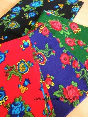 画像1: トルコ布 ブラッシュド・コットン ユーカリの花 全4カラー 45cm