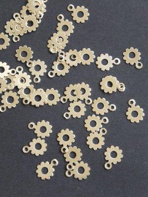 画像1: プル 鉄・スパンコール 花型2 シルバー 10g
