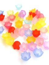 カラフル花パーツ・チューリップ(艶消し)|アクリル|ミックスカラー20g