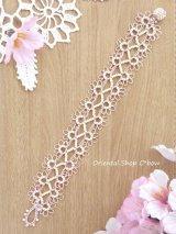 メキッキオヤブレスレット|ふわふわ花|ベビーピンク