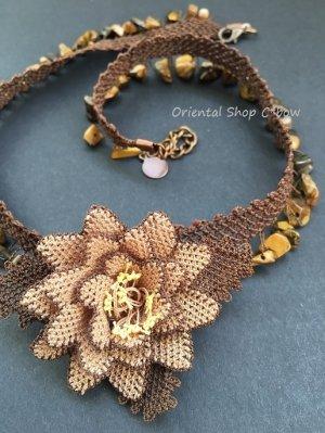 画像1: シルクイーネオヤネックレス:天然石ブラウン系