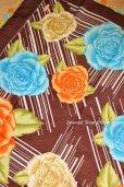 画像5: バルッケシル:大判トゥーオヤスカーフ|ダークブラウン×薔薇薔薇薔薇 (5)