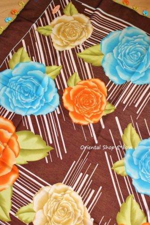 画像5: バルッケシル:大判トゥーオヤスカーフ|ダークブラウン×薔薇薔薇薔薇