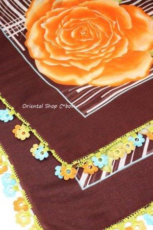 画像4: バルッケシル:大判トゥーオヤスカーフ|ダークブラウン×薔薇薔薇薔薇
