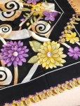 画像7: バルッケシル:大判トゥーオヤスカーフ|ブラック×紫黄