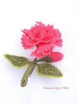 シルクイーネオヤブローチ|つぼみ付きカーネーション|ピンク