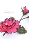 画像4: シルクイーネオヤブローチ|つぼみ付き薔薇|パッションピンク