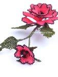 画像3: シルクイーネオヤブローチ|つぼみ付き薔薇|パッションピンク