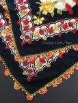 画像4: バルッケシル:大判フィルケテオヤ・トゥーオヤスカーフ|ブラック×赤黄