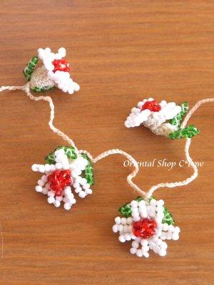画像1: ヴィンテージボンジュックオヤ単体|ナムルン|白い花びらの花