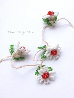 画像3: ヴィンテージボンジュックオヤ単体|ナムルン|白い花びらの花