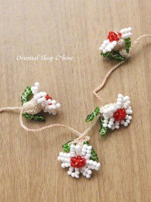 画像2: ヴィンテージボンジュックオヤ単体|ナムルン|白い花びらの花