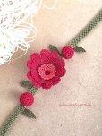 画像2: 日本発送★シルクイーネオヤブレスレット・アンクレット 赤い花 (2)