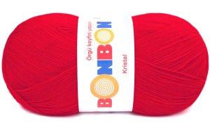 画像1: ボディタオル[リフ・エコたわし]製作毛糸|NAKO|BonbonKristal|211トマトレッド