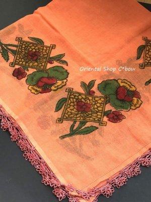 画像4: バルッケシル:アンティークオヤスカーフ・ヤズマ変 メキッキオヤ コーラルオレンジ