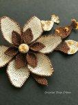 画像4: シルクイーネオヤブローチ|つぼみ付き花|ココア×エッグ (4)