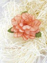 シルクイーネオヤブローチ|4重花びら|ライトサーモン