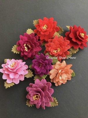 画像5: シルクイーネオヤブローチ|4重花びら|ライトピンク