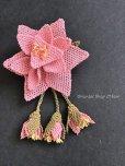 画像2: シルクイーネオヤブローチ|つぼみ付き星花|ライトピンク (2)