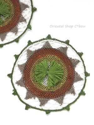 画像2: シルク・馬毛 エフェオヤパーツ グリーン系