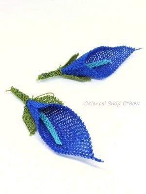 画像2: 手作りアクセに☆シルク糸:イーネオヤ単体|百合|ブルー