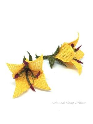 画像3: 手作りアクセに☆シルク糸:イーネオヤ単体|チューリップ|クリームイエロー