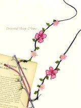 日本発送◆シルクイーネオヤ:グラスコード|蝶々|ピンク・端ライトピンク